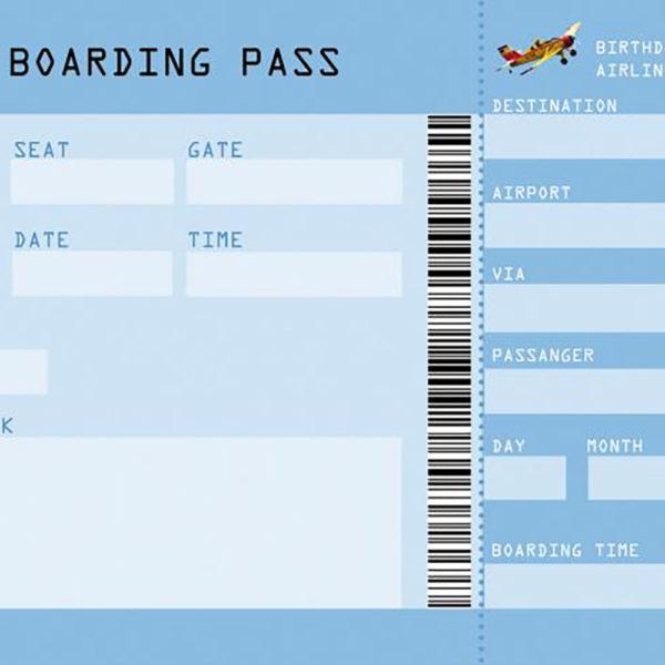 Boarding-Pass – Kindergeburtstag-Einladung