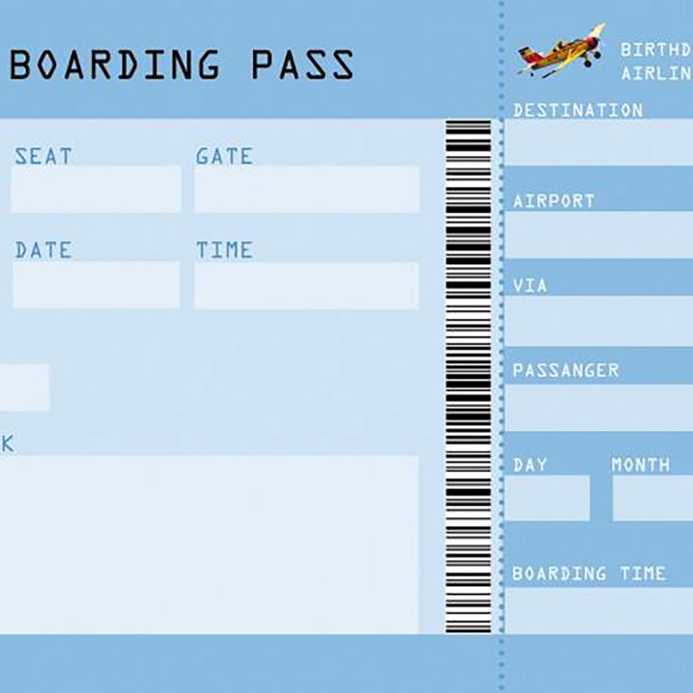 Boarding Pass Kindergeburtstag Einladung Miss Red Fox