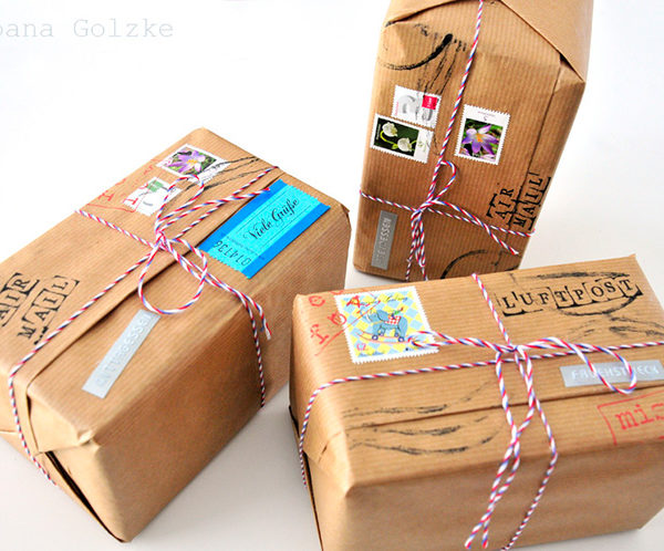 DIY – Paket Geschenkverpackung