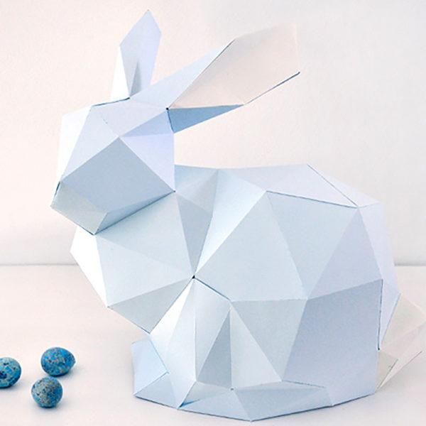 miss red fox - Papierhase 3D