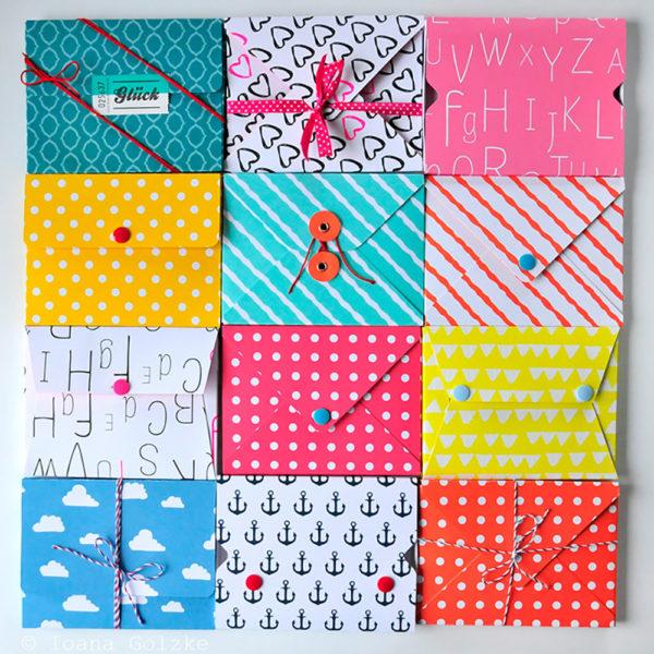 DIY Postkarten Box mit 4 Varianten