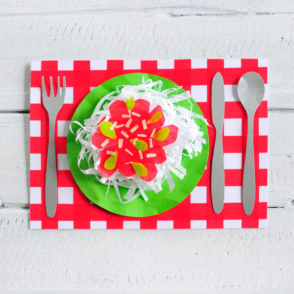 DIY Spaghetti Karte
