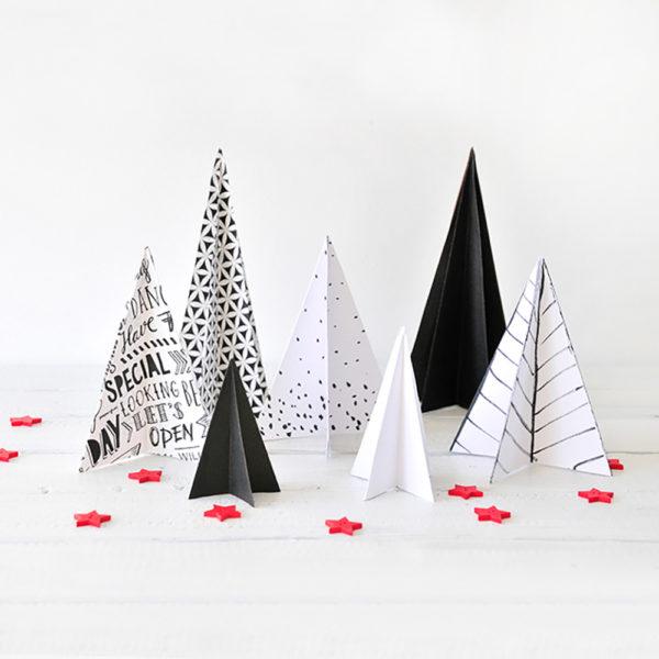 DIY Deko-Weihnachtsbäume