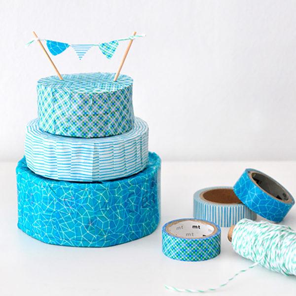 Geschenkbox-Torte mit Washi Tape
