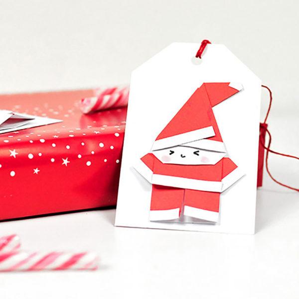 Origami Weihnachtsmänner
