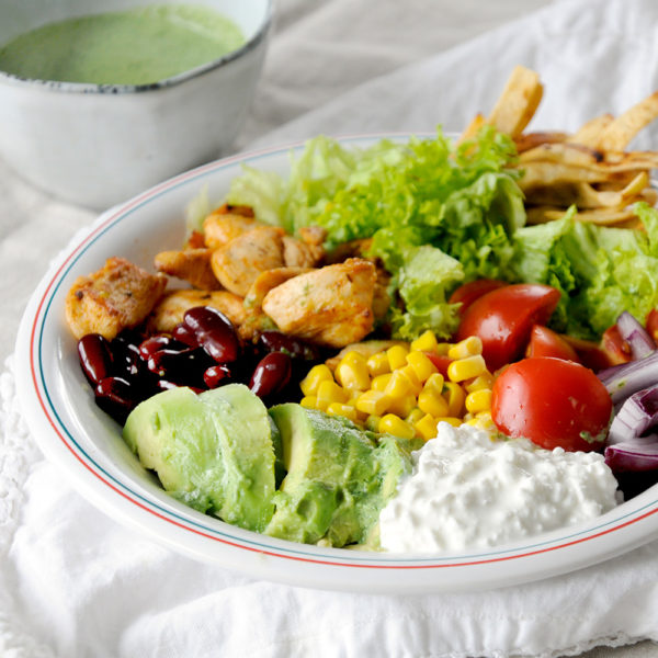 miss red fox - Mexican Chicken Cobb Salad