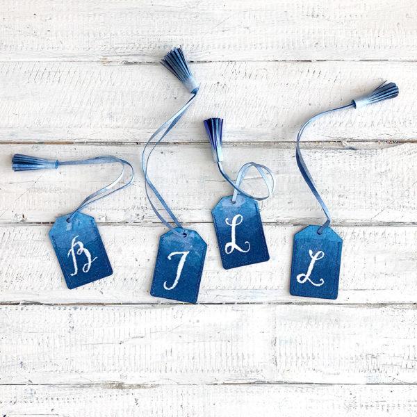 miss red fox - 12giftswithlove - 07 - Sommerferien - Gepäcketiketten aus SnapPap mit Buchstaben