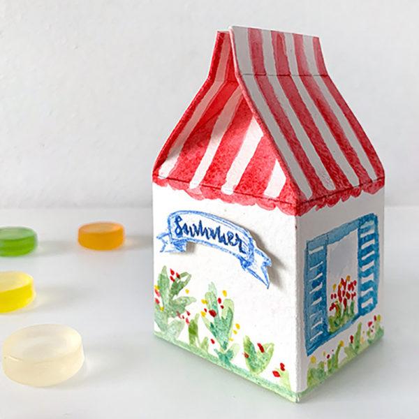 miss red fox - Geschenkverpackung Ferienhaus Aquarelle