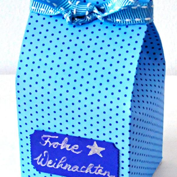 Geschenk im Milchkarton