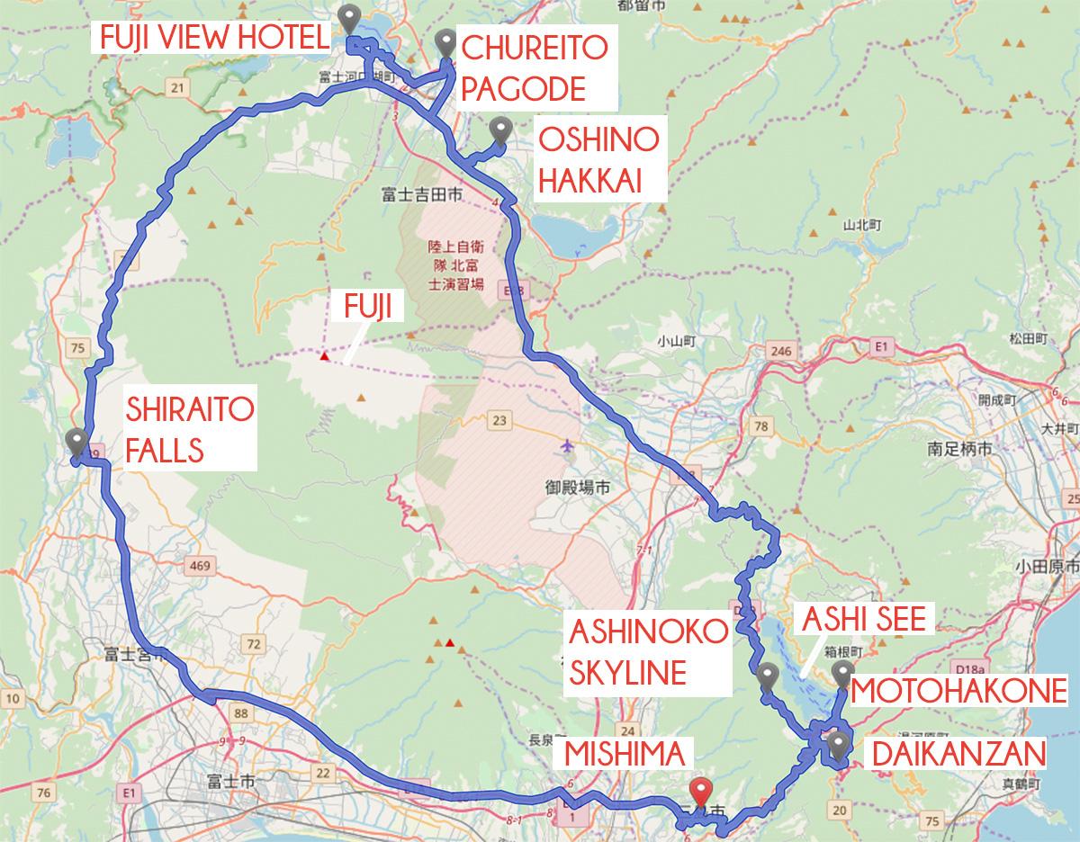 missredfox - Japan - Fuji - Route