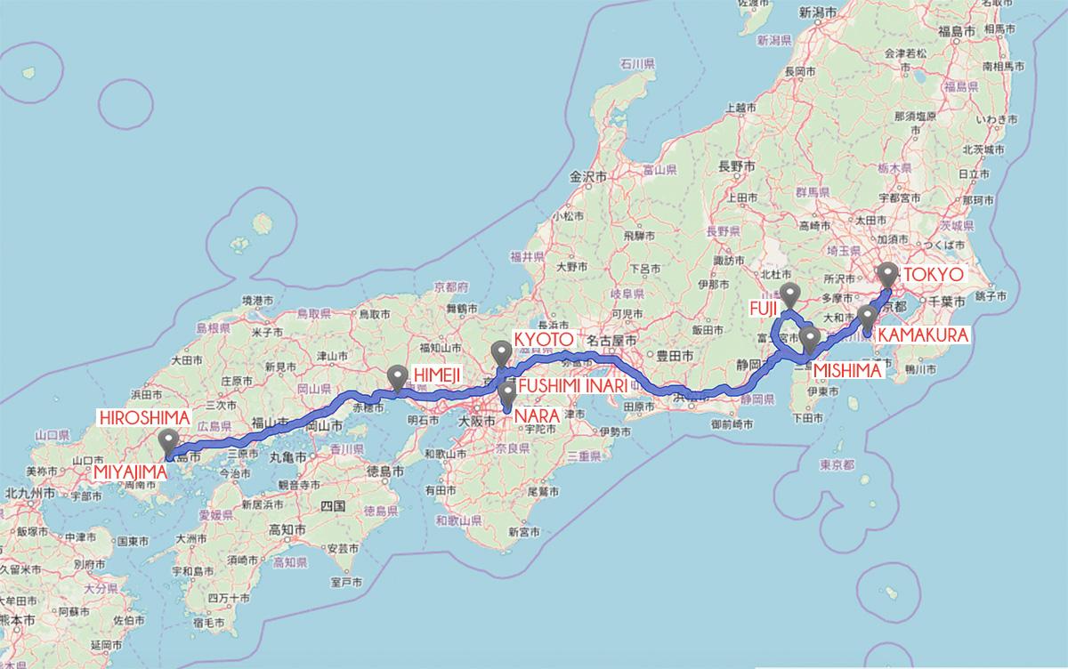 missredfox - Japan - Route