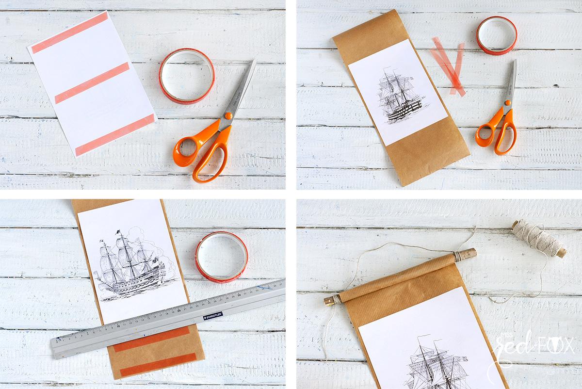 missredfox - 12giftswithlove - 09 - Holz - DIY Vintage Bilderrahmen - Schiffe - 04