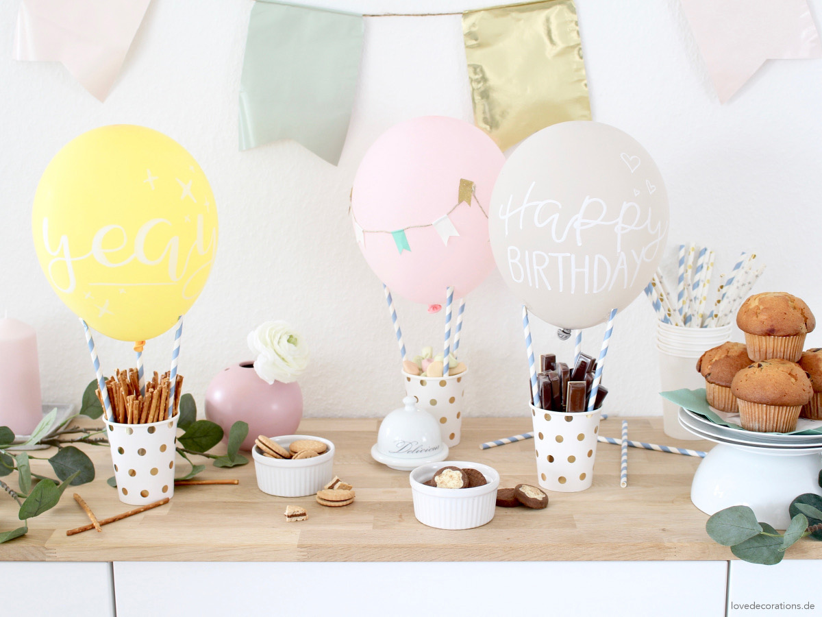 missredfox - Love Decorations - DIY Heißluftballon Snack Holder_ Geburtstagstisch_Candy Bar_1