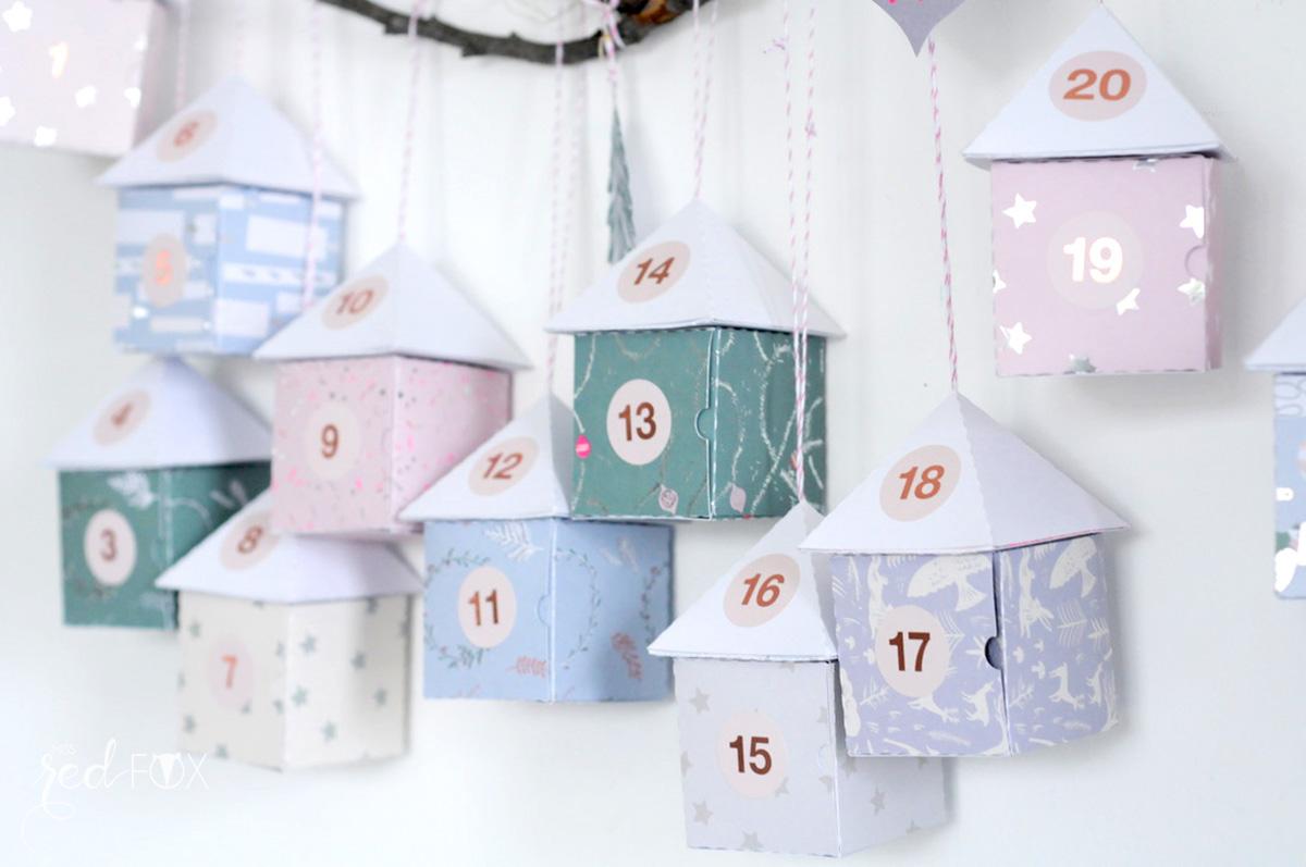 missredfox - 12giftswithlove - 11 - Waldfunde - Adventskalender Pastell Häuser auf dem Ast - 07
