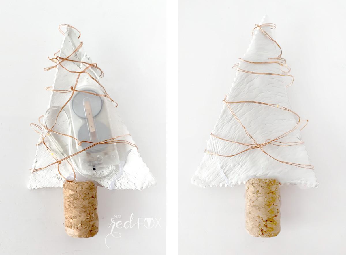 missredfox - 12giftswithlove - 12 - Lichterkette - Tannenbäume aus Fimo - 06