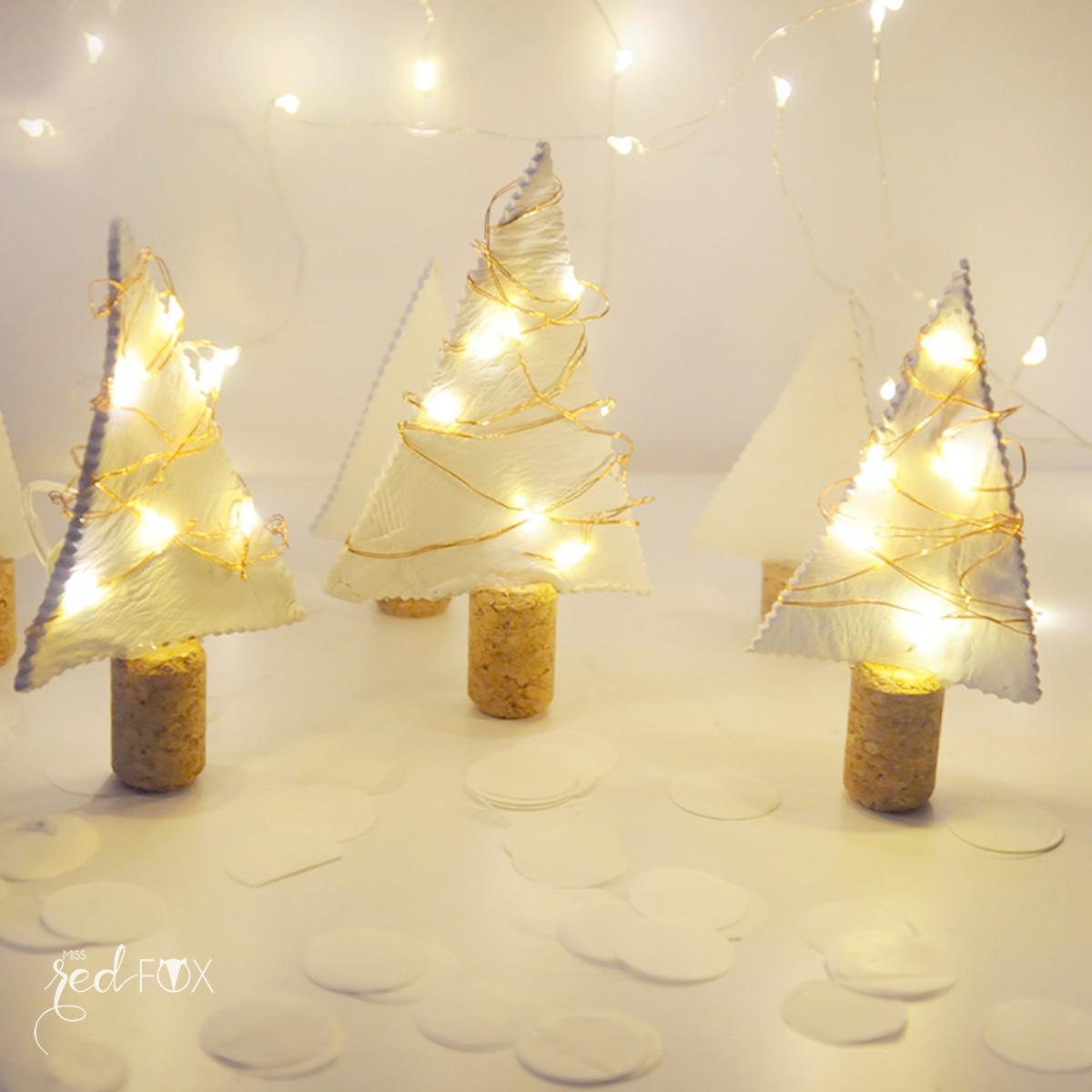 missredfox - 12giftswithlove - 12 - Lichterkette - Tannenbäume aus Fimo - 07