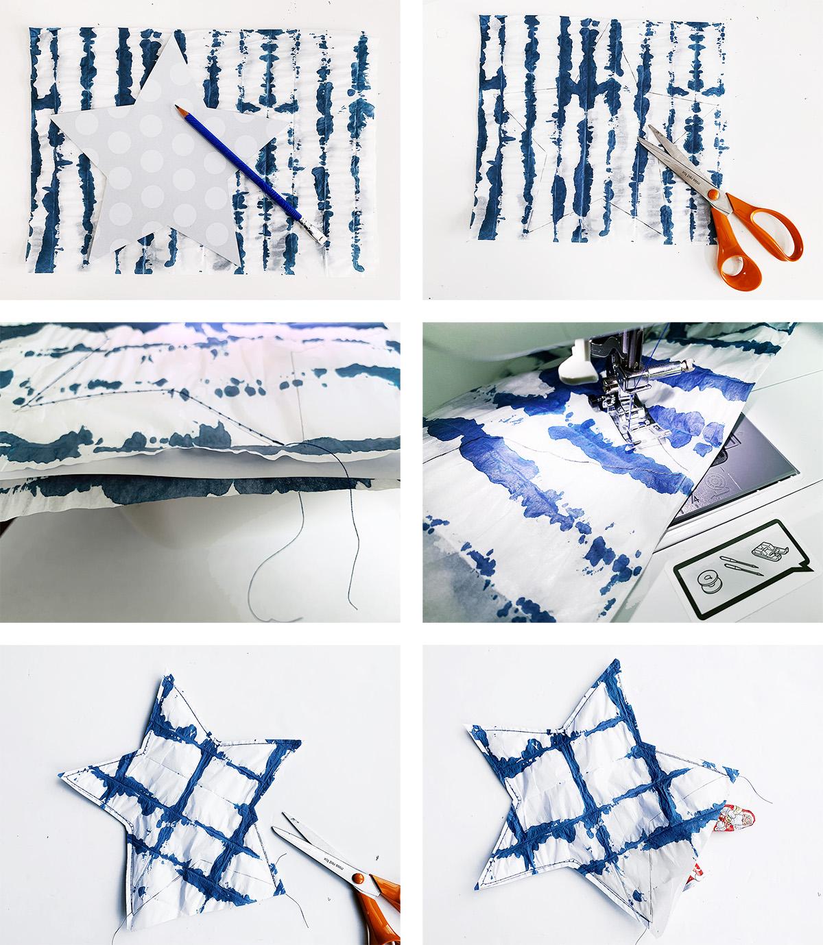 missredfox - 12giftswithlovegoesXMAS - 24 - Genähte Shibori Sterne Geschenkverpackung - 03