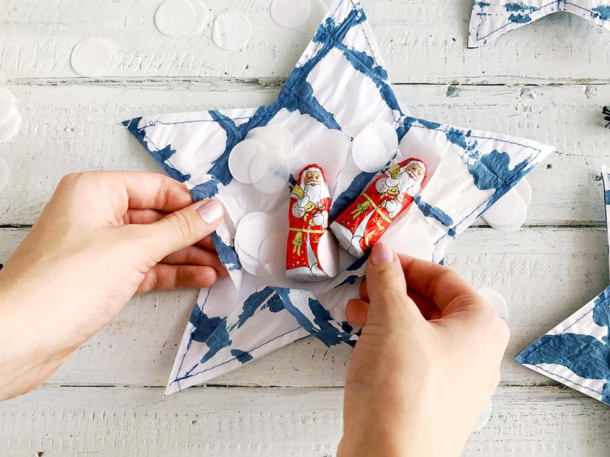 missredfox - 12giftswithlovegoesXMAS - 24 - Genähte Shibori Sterne Geschenkverpackung - 06
