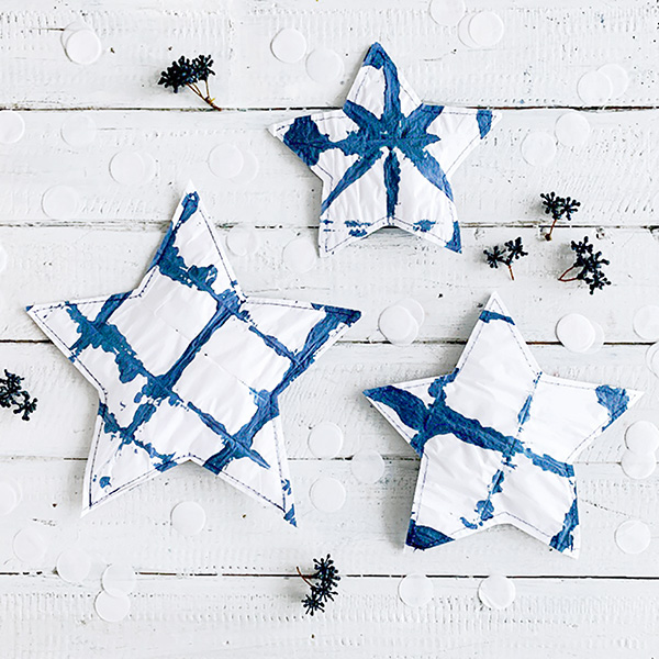 missredfox - 12giftswithlovegoesXMAS - 24 - Genähte Shibori Sterne Geschenkverpackung