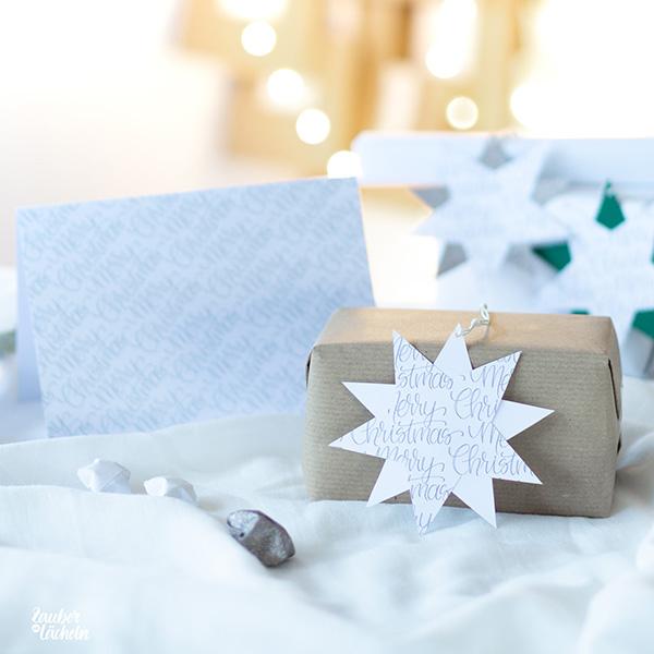 missredfox - 12giftswithlovegoesxmas-21 - Zauber ein Lächeln - Weihnachtskarten mit Geschenkanhänger_
