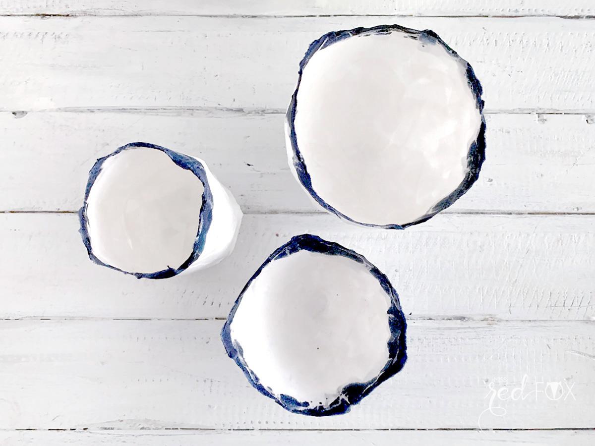 missredfox - 12giftswithlove - Minimalistisch - Pappmaché Schalen Vase Indigo - 05