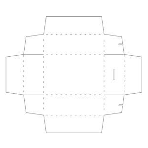 missredfox - Eiscreme & Candy Geburtstag - Box innen Vorlage