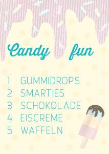 missredfox - Eiscreme & Candy Geburtstag - Spiele