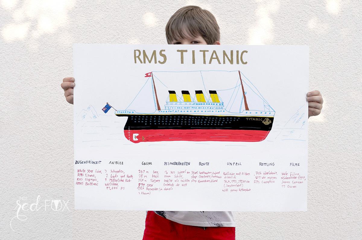 missredfox - PILOT FOR KIDS - DIY Boote und Titanic Plakat - 05
