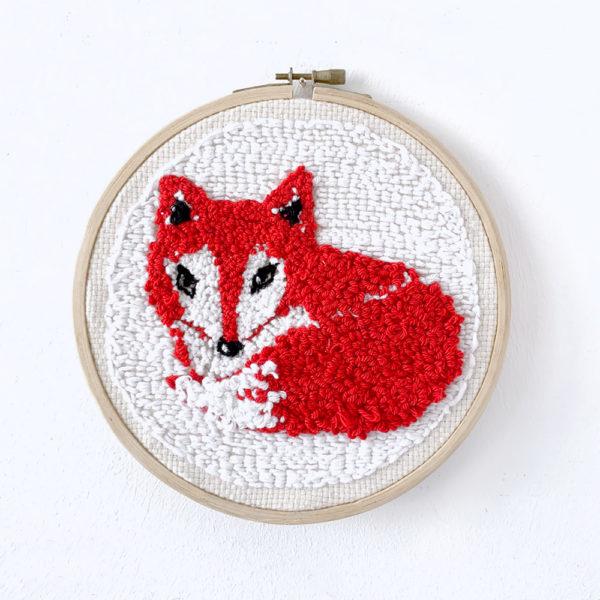 missredfox - Punch Needle Bild - Fuchs