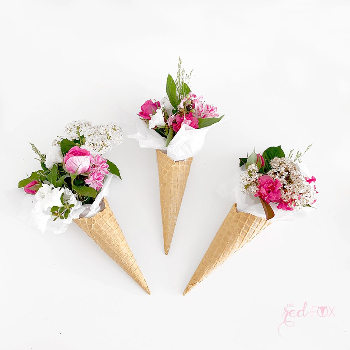 missredfox - 12giftswithlove - 05 - Blumen - Eiswaffel Blumenstrauß - 01