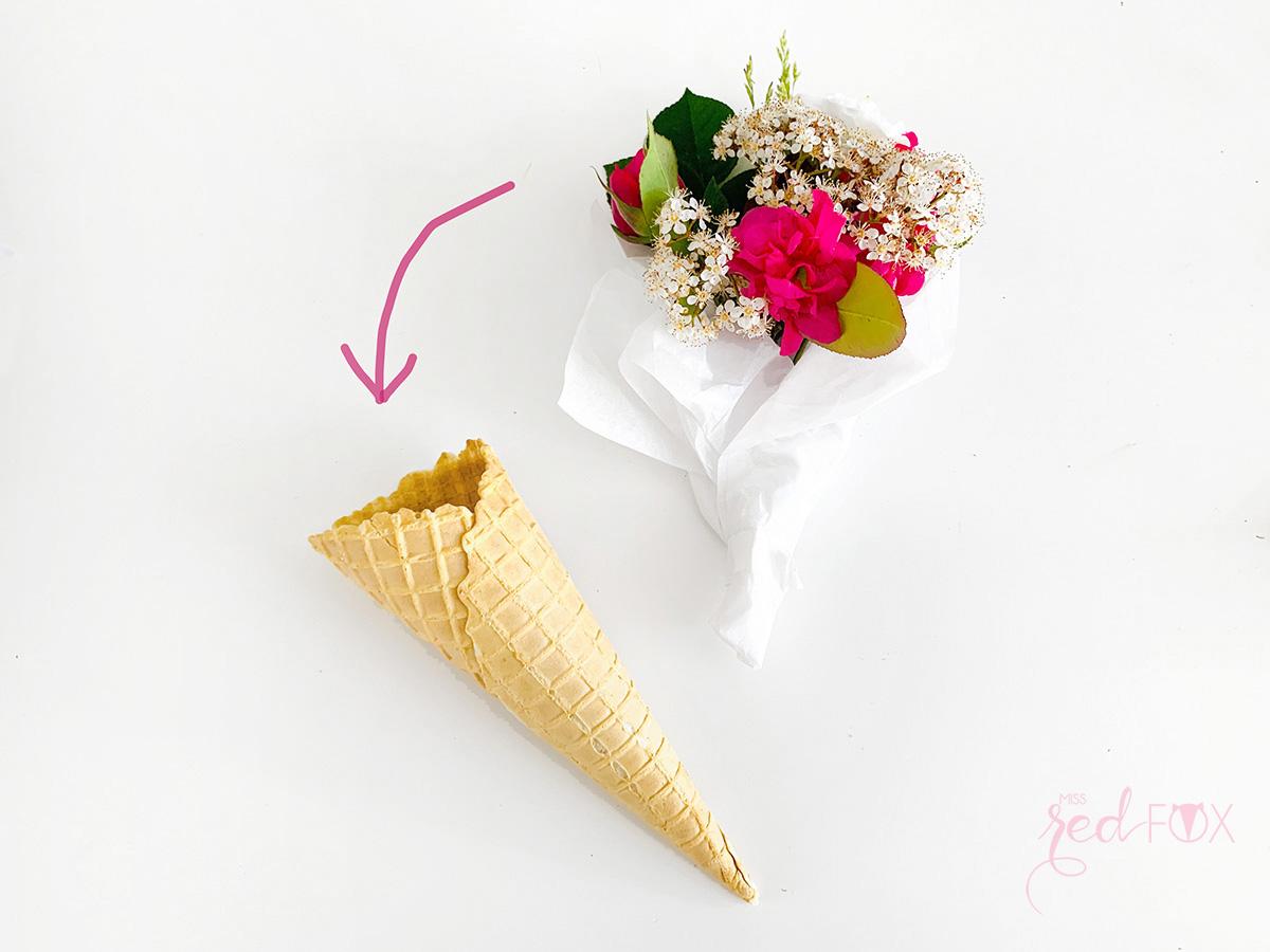 missredfox - 12giftswithlove - 05 - Blumen - Eiswaffel Blumenstrauß - 05