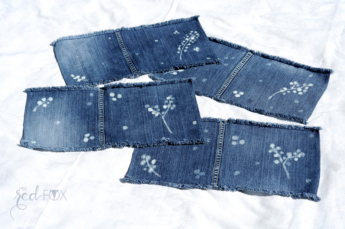 missredfox - 12giftswithlove 06 - Picknick - DIY Upcycling Jeans Servietten bleichen - 06