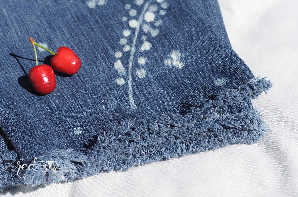 missredfox - 12giftswithlove 06 - Picknick - DIY Upcycling Jeans Servietten bleichen - 07
