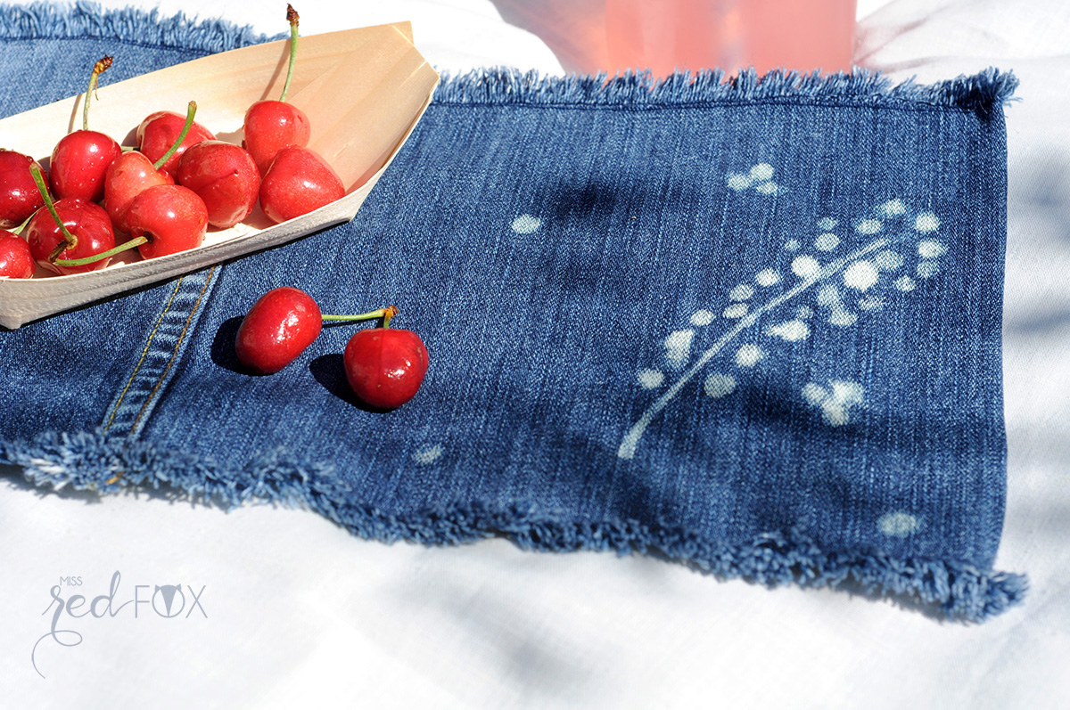 missredfox - 12giftswithlove 06 - Picknick - DIY Upcycling Jeans Servietten bleichen - 08