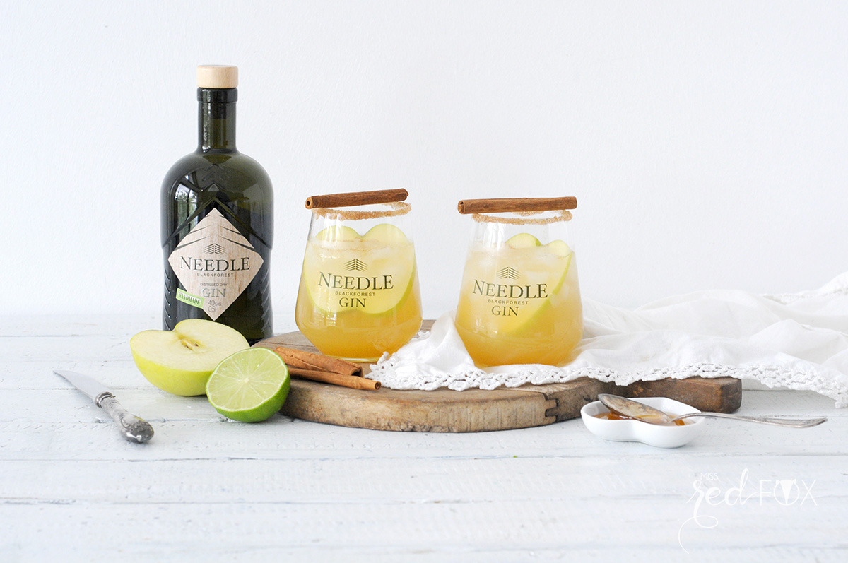 missredfox - Needle Gin - Cocktail mit Apfel Honig Zimt - 01