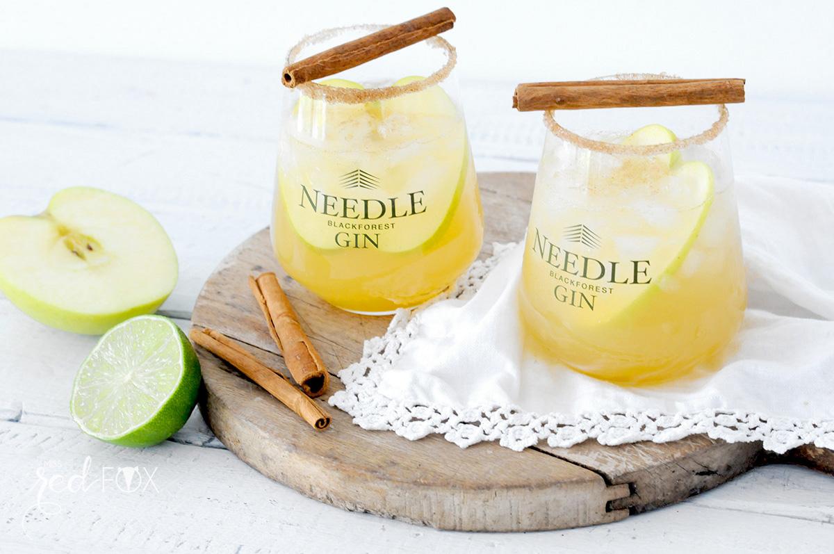 missredfox - Needle Gin - Cocktail mit Apfel Honig Zimt - 02