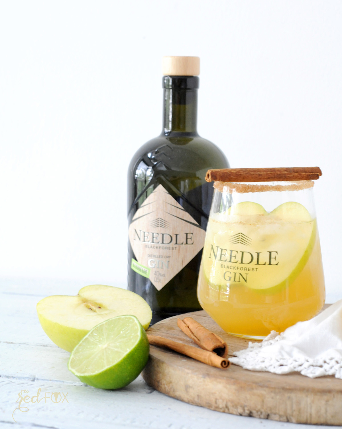 missredfox - Needle Gin - Cocktail mit Apfel Honig Zimt - 03