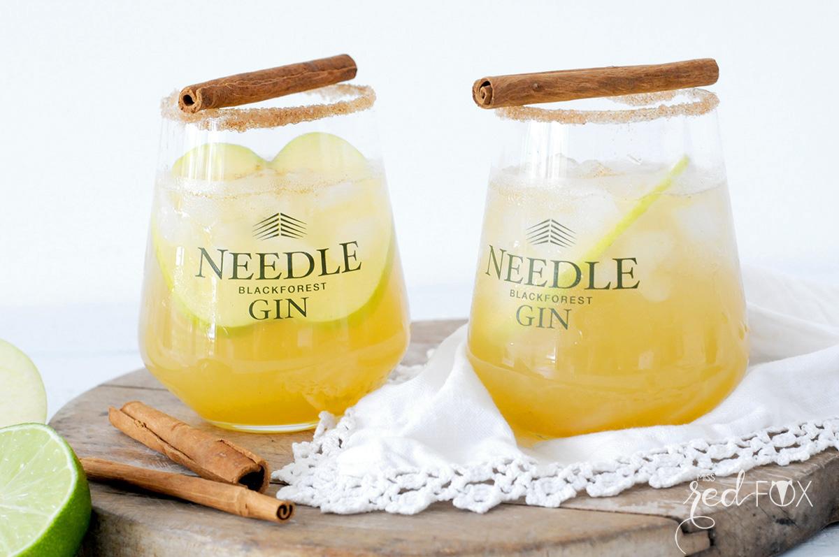 missredfox - Needle Gin - Cocktail mit Apfel Honig Zimt - 04