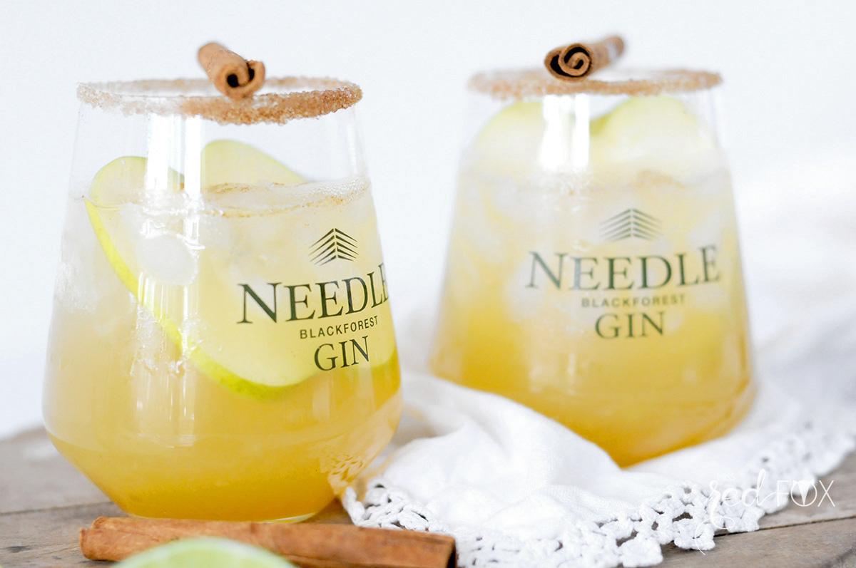 missredfox - Needle Gin - Cocktail mit Apfel Honig Zimt - 06