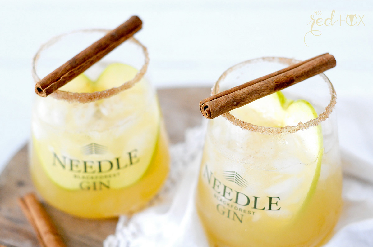missredfox - Needle Gin - Cocktail mit Apfel Honig Zimt - 07