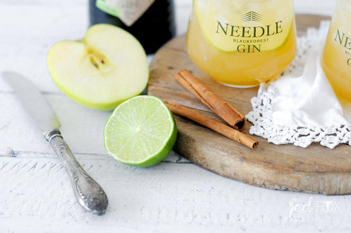 missredfox - Needle Gin - Cocktail mit Apfel Honig Zimt - 08