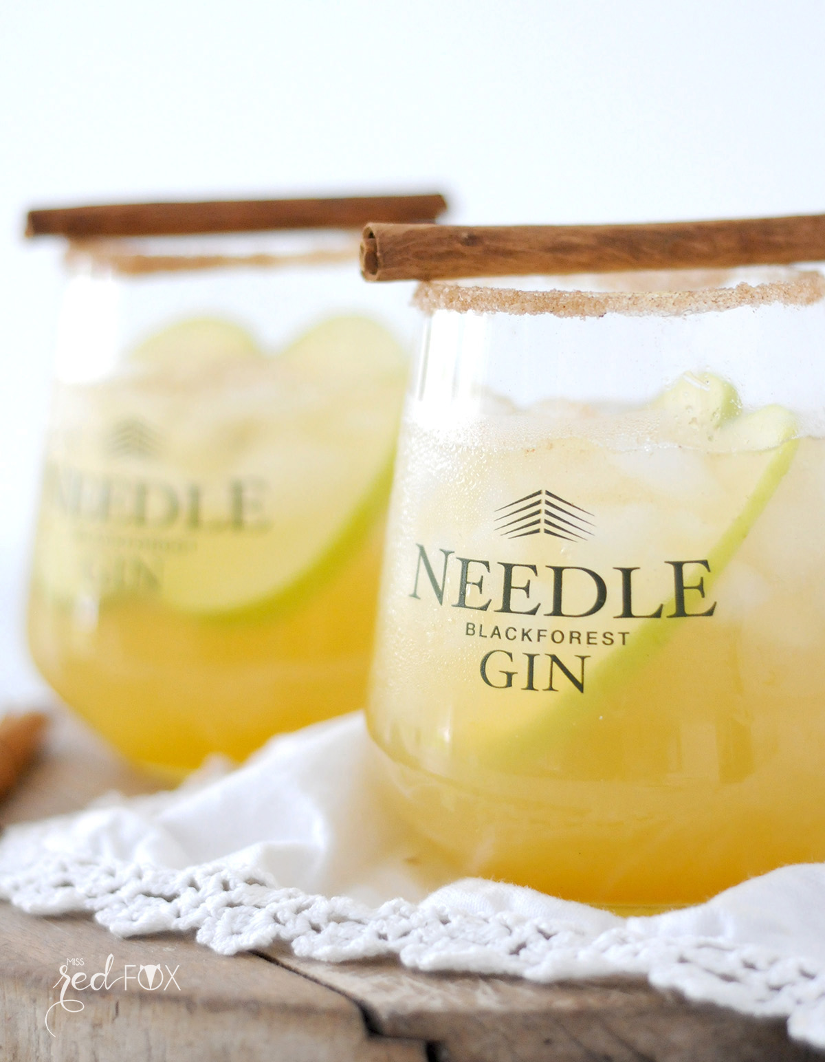 missredfox - Needle Gin - Cocktail mit Apfel Honig Zimt - 09
