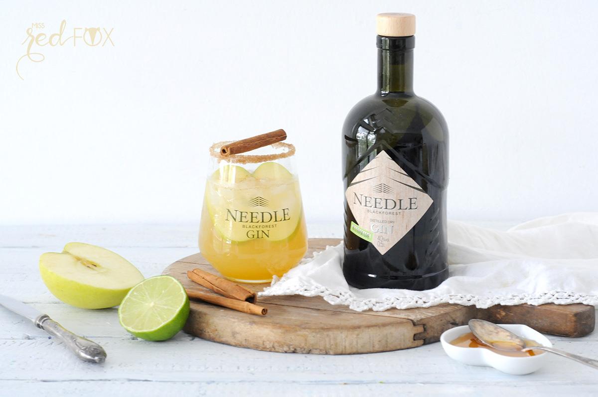 missredfox - Needle Gin - Cocktail mit Apfel Honig Zimt - 10