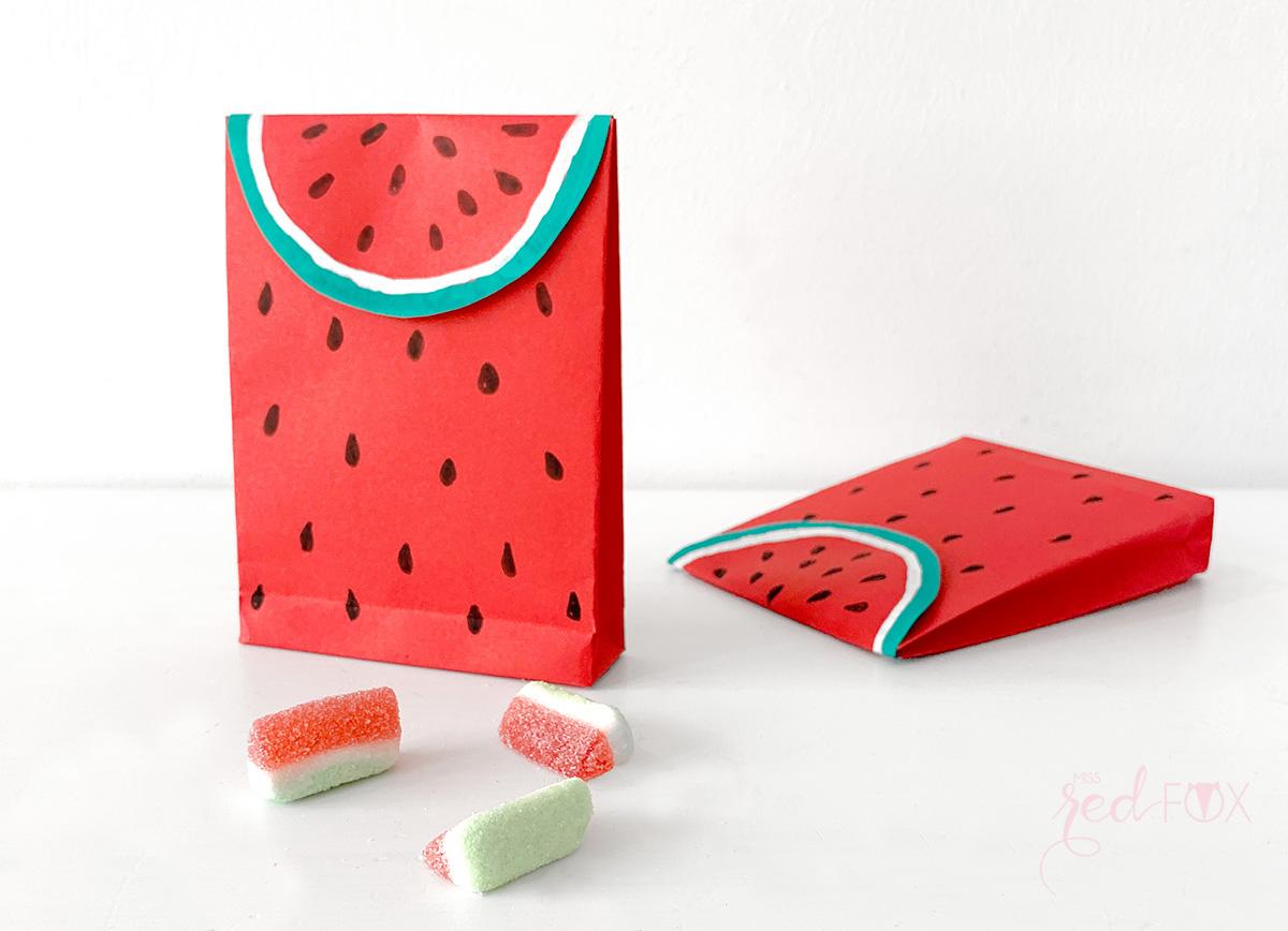 missredfox - 12giftswithlove - Wassermelone - Geschenktüte - 01