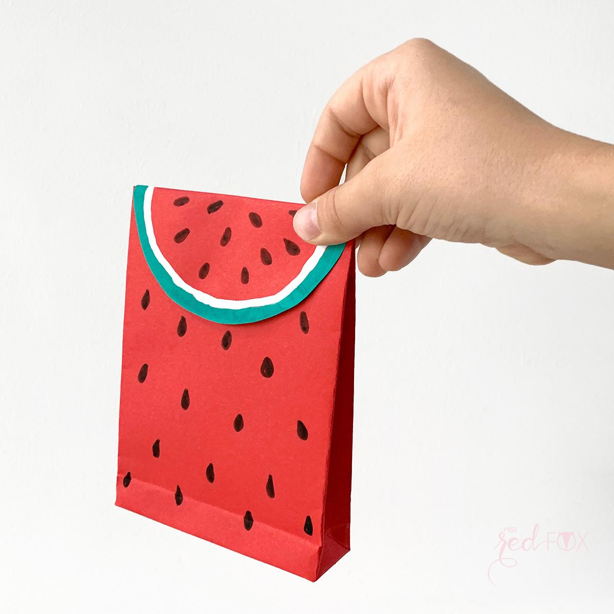 missredfox - 12giftswithlove - Wassermelone - Geschenktüte - 10