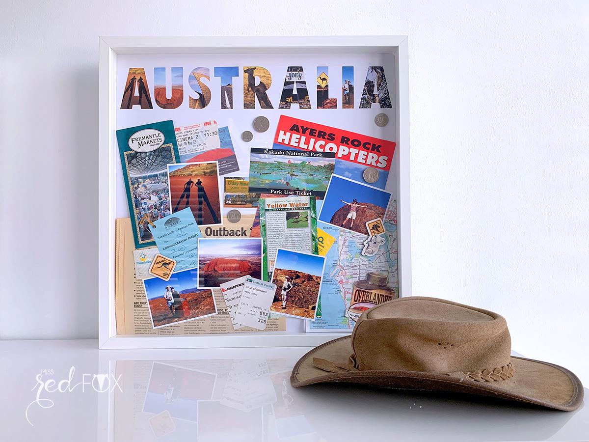missredfox - 12giftswithlove - Reisen - Erinnerungsbox 3D - Travel Shadow Box Frame - 01