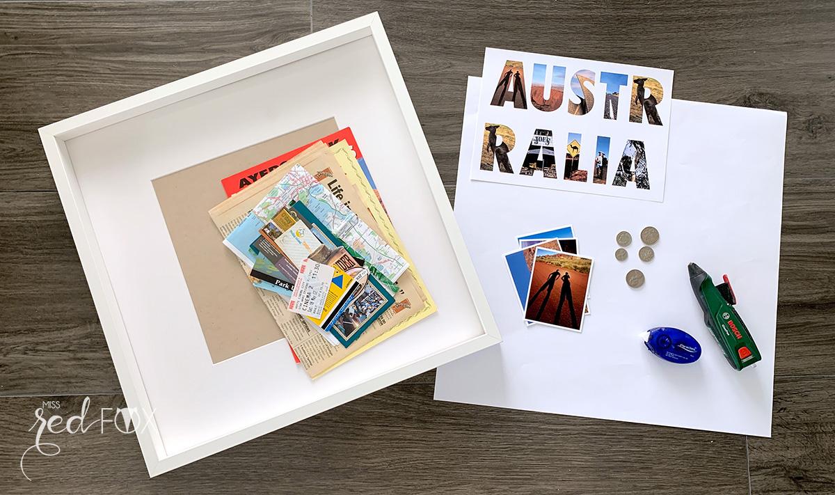 missredfox - 12giftswithlove - Reisen - Erinnerungsbox 3D - Travel Shadow Box Frame - 02
