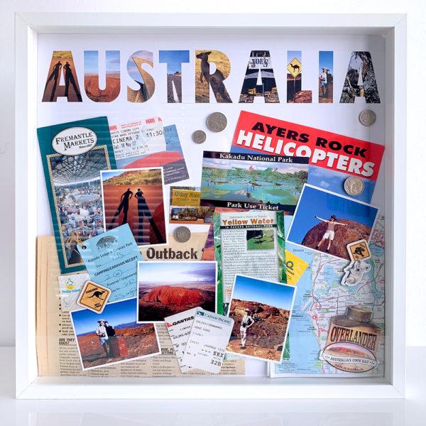 missredfox - 12giftswithlove - Reisen - Erinnerungsbox 3D - Travel Shadow Box Frame