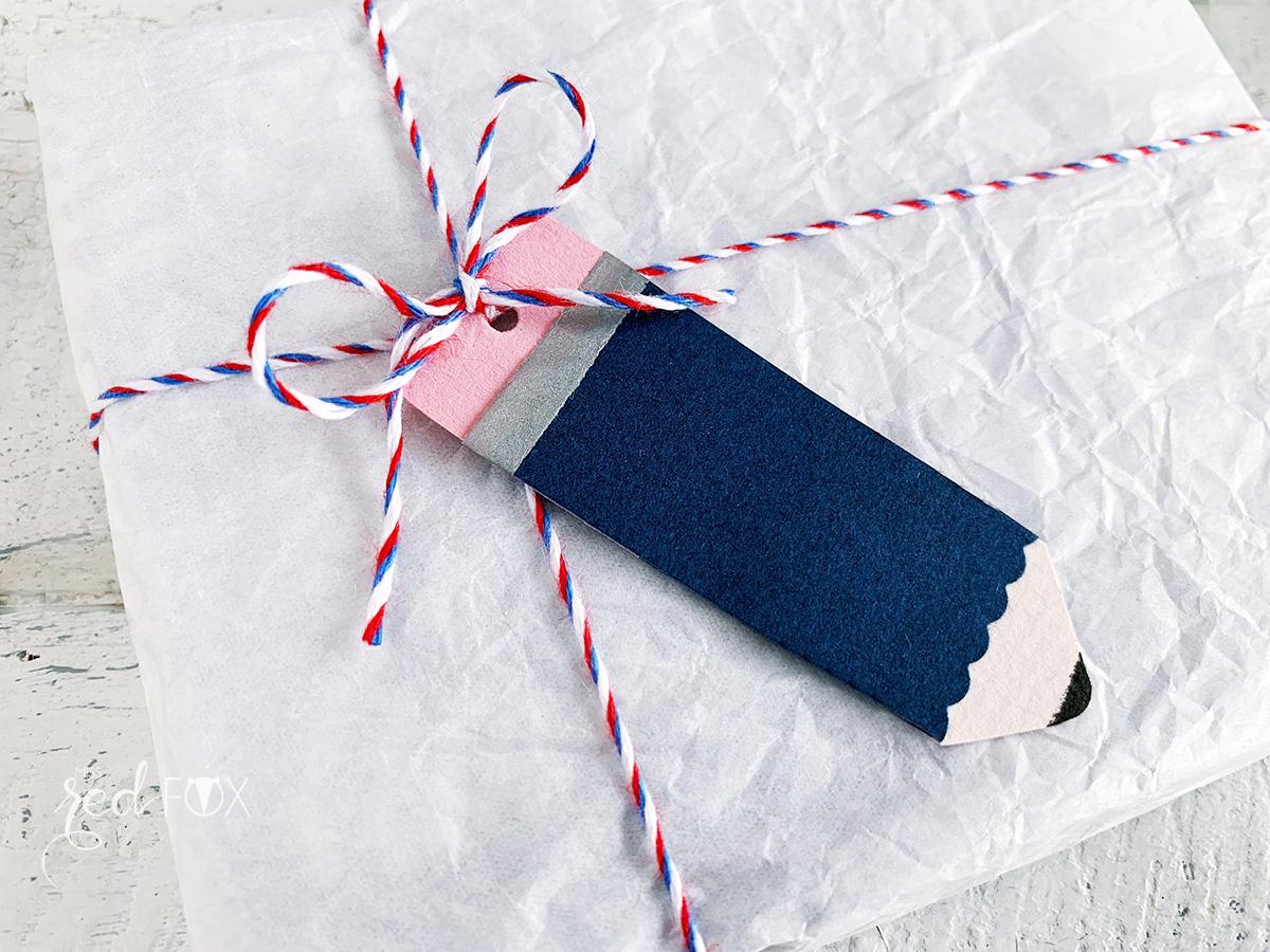 missredfox - 12giftswithlove - Schule - Bleistift Geschenkanhänger - Girlande - 07