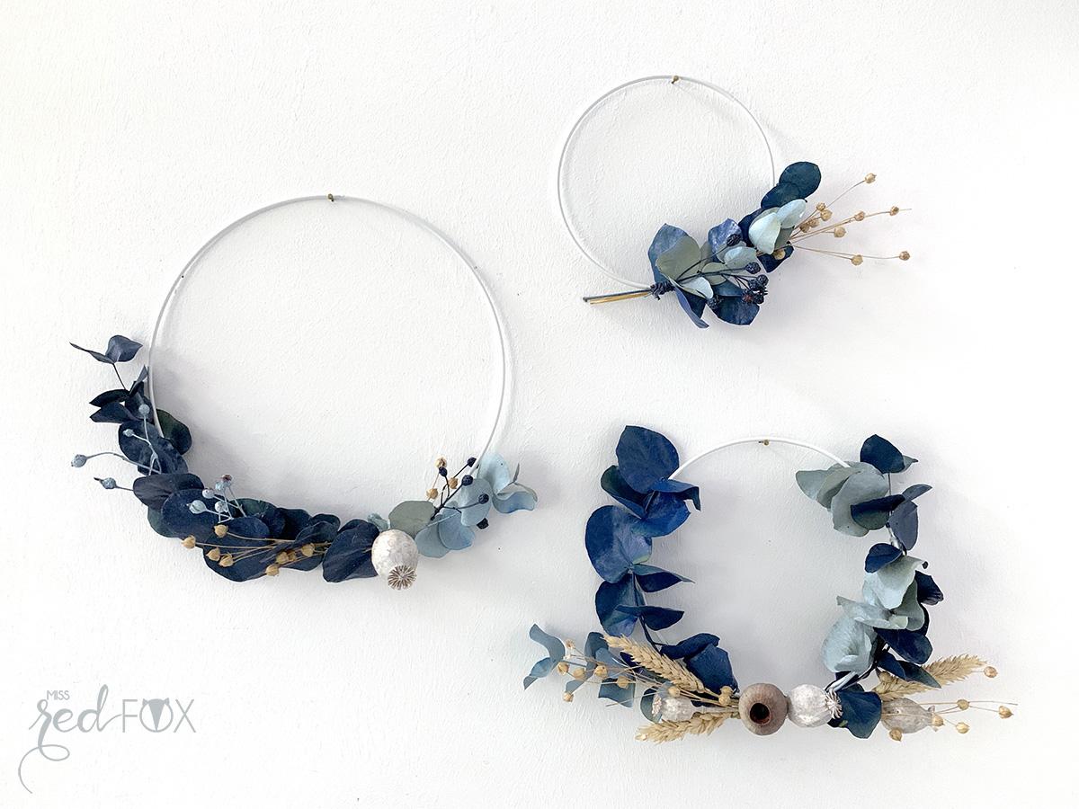 missredfox - 12giftswithlove 10 - Kranz aus trockenen Blumen - 01